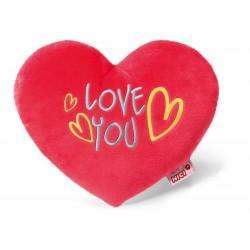 """Herzkissen """"Love you"""" 25 cm Plüsch"""