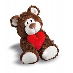 Love Kuscheltier Bär braun mit Herz, 22 cm