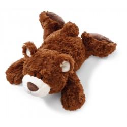 Classic Bear Kuscheltier Bär dunkelbraun liegend, 20 cm